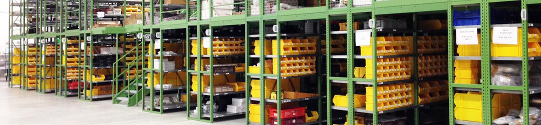 Fachbodensystem C50 als Kleinteillager
