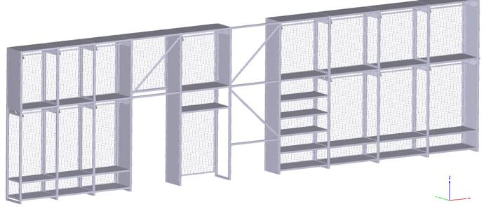 Vogelsang 3D Konstruktioszeichnung Regal Creative Department 10 Felder 3,5m
