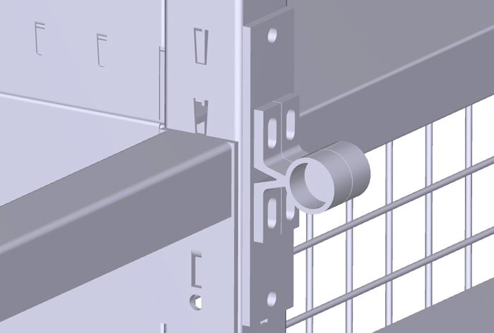 Vogelsang 3D Konstruktionszeichnung Aufnahme Leiterführungsrohre